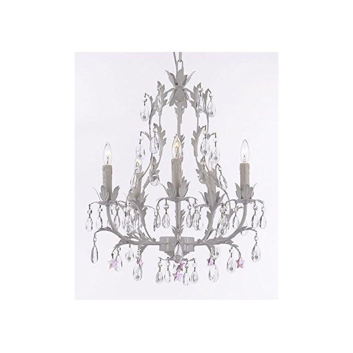 Moises Floral 5 Light Chandelier Pertaining To Well Liked Hesse 5 Light Candle Style Chandeliers (View 18 of 25)