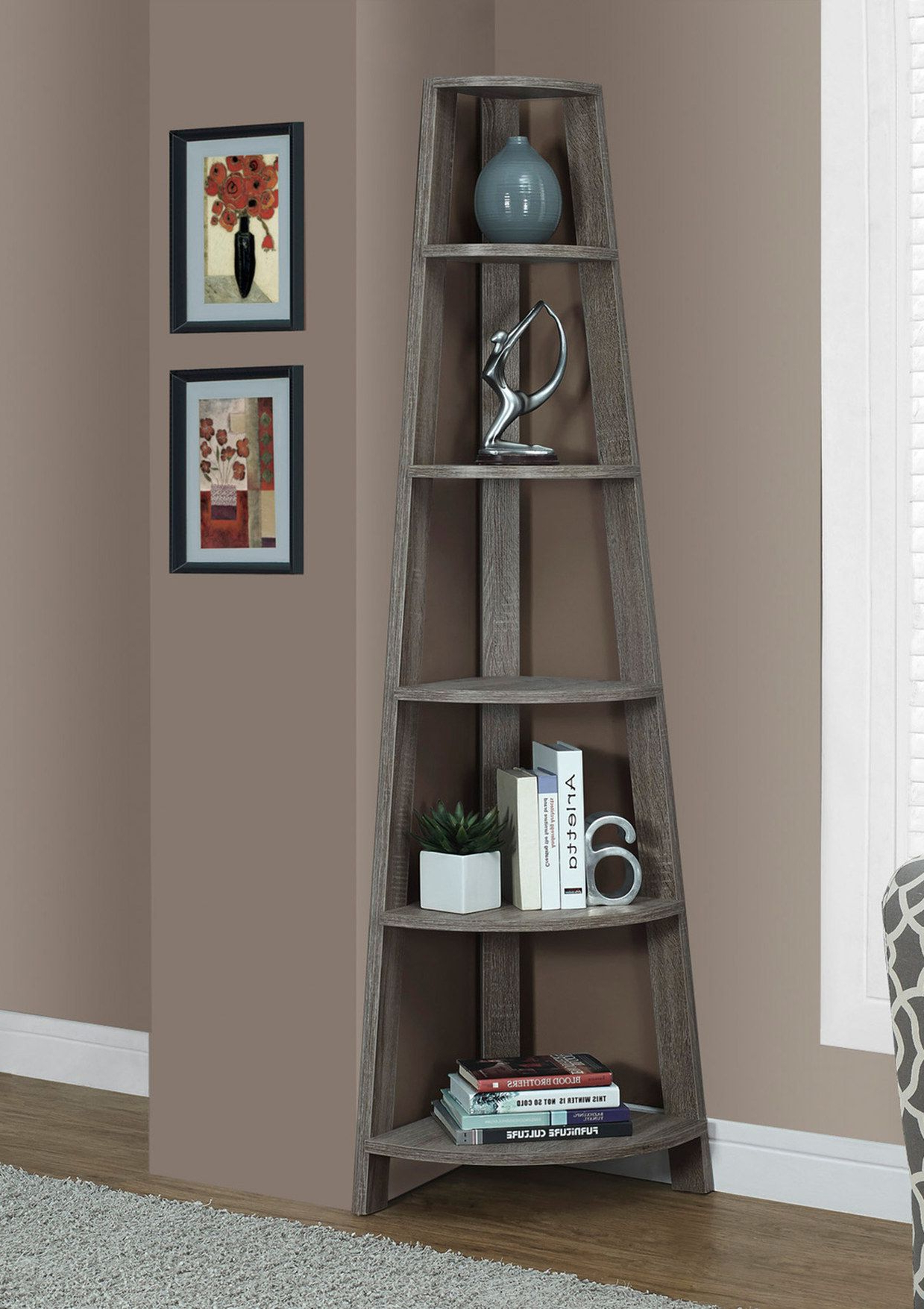 Monarch Corner Accent Etagere (View 11 of 20)