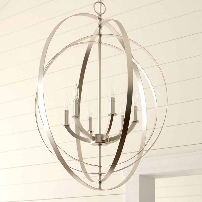 Morganti 6 Light Globe Chandelier With Current Morganti 4 Light Chandeliers (View 16 of 25)