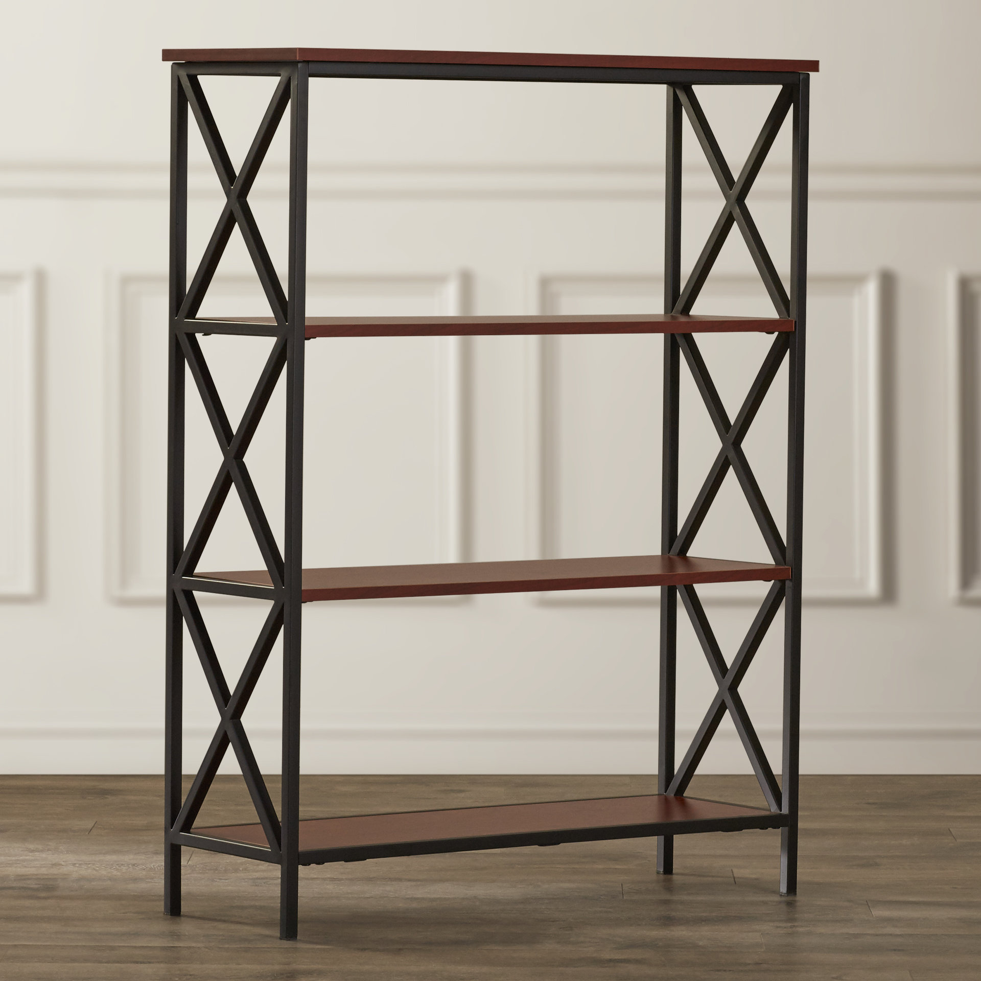 Most Current Abbottsmoor Etagere Bookcase Intended For Abbottsmoor Etagere Bookcases (View 11 of 20)