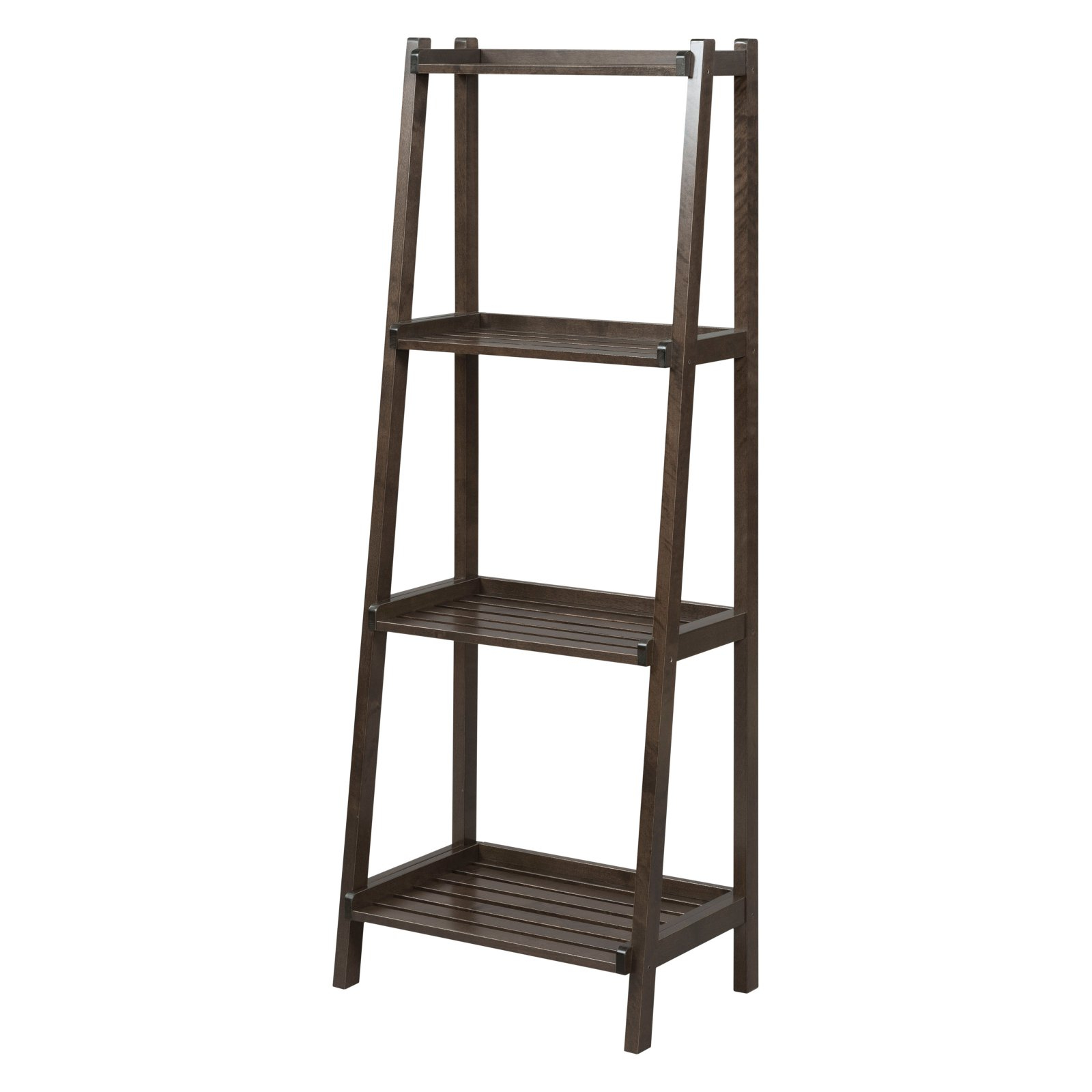 Most Current Alfred Ladder Bookcases Inside New Ridge Home Goods Dunnsville Ladder Bookcase Espresso (View 14 of 20)
