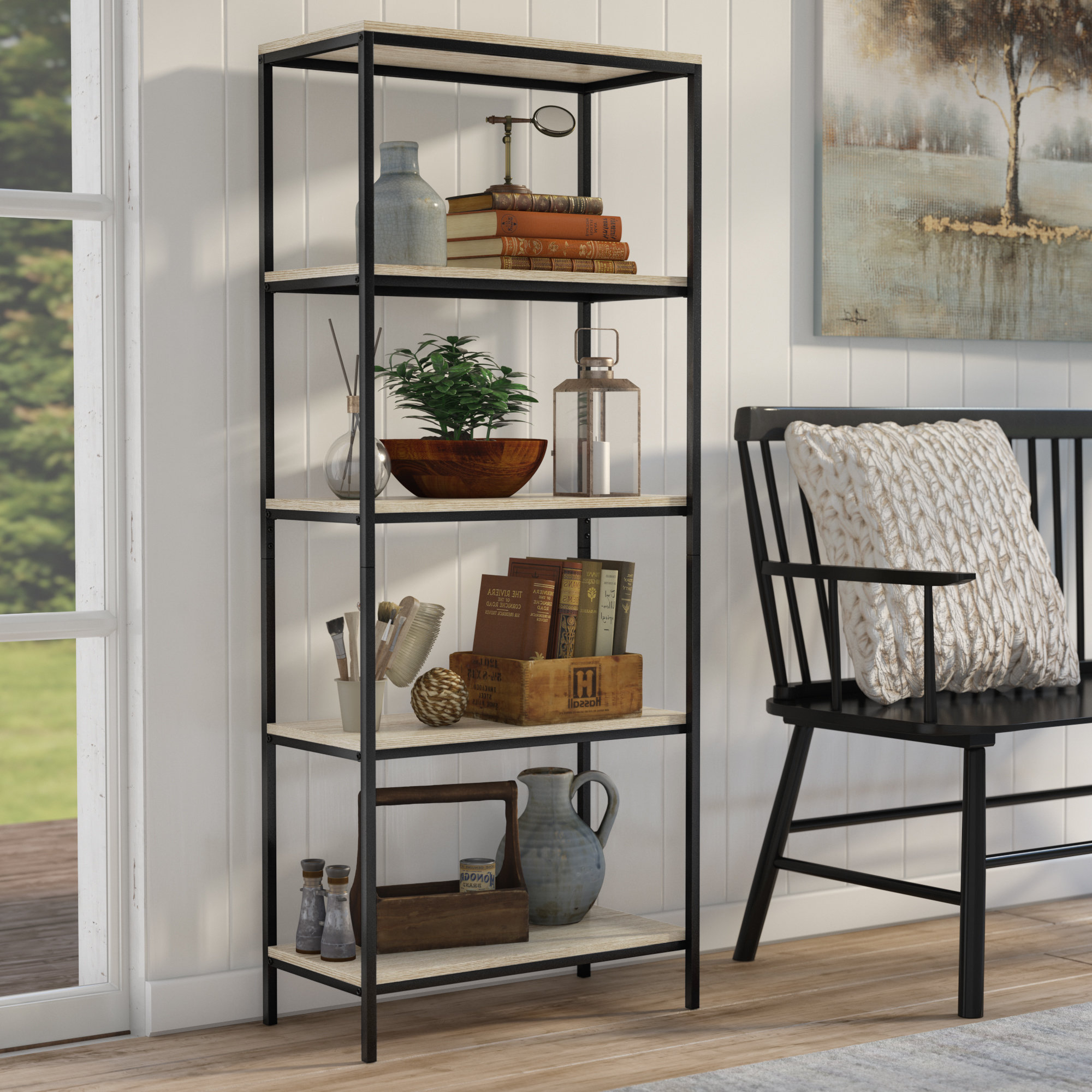 Most Current Aptos Etagere Bookcases Within Laurel Foundry Modern Farmhouse Ermont Etagere Bookcase (View 7 of 20)