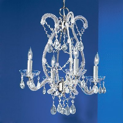 Most Current Aurore 4 Light Crystal Chandeliers For Classic Lighting Aurora 4 Light Chrome Chandelier (View 17 of 25)