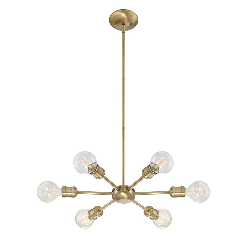 Most Current Bautista 6 Light Sputnik Chandelier With Bautista 6 Light Sputnik Chandeliers (View 5 of 25)