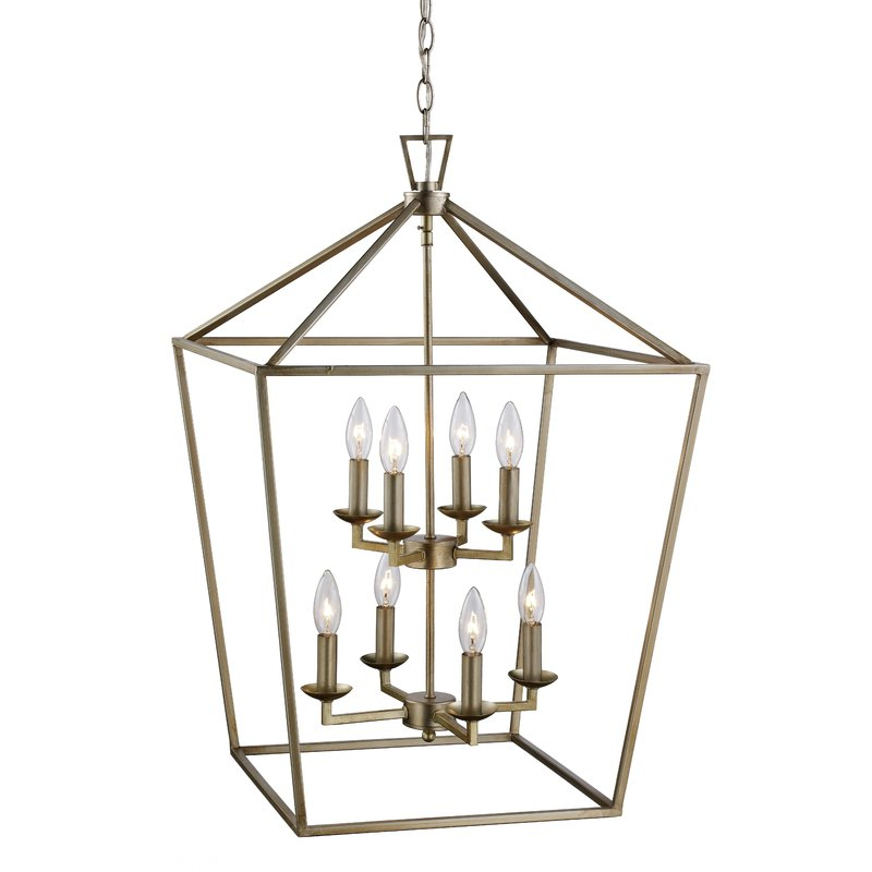 Most Current Carmen 8 Light Lantern Tiered Pendants Within Carmen 8 Light Lantern Geometric Pendant (View 17 of 25)
