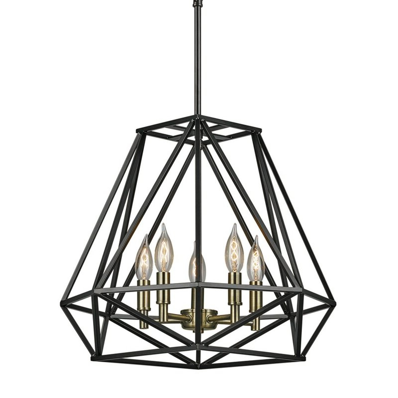Most Current Cavanagh 4 Light Geometric Chandeliers Within Tabit 5 Light Geometric Chandelier (View 19 of 25)