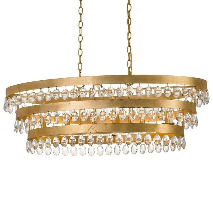 Most Current Crystorama Perla 3 Tier Round Brass Crystal Drops Chandelier With Clea 3 Light Crystal Chandeliers (View 24 of 25)