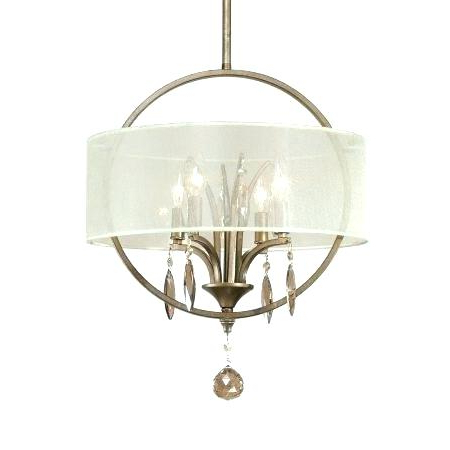 Most Current Dailey 4 Light Drum Chandeliers With Regard To Fabric Drum Pendant – Mrandmrsc (View 16 of 25)