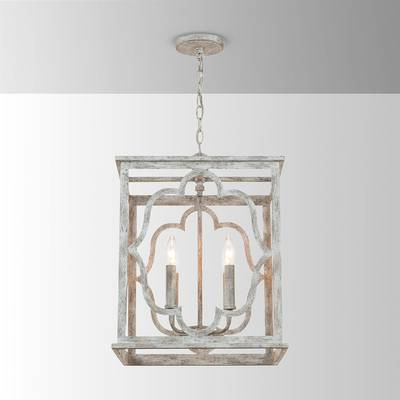 Most Current Destrey 4 Light Lantern Pendant Intended For Kierra 4 Light Unique / Statement Chandeliers (View 18 of 25)