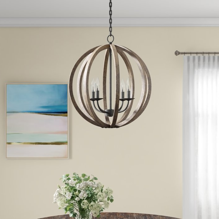 Most Current Donna 4 Light Globe Chandeliers Throughout Ricciardo 4 Light Globe Chandelier (View 16 of 25)