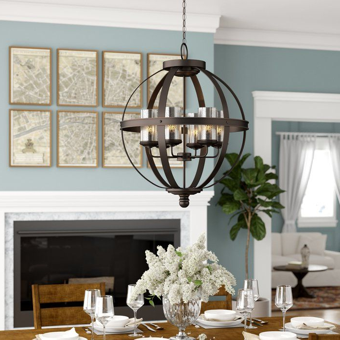 Most Current Donna 6 Light Globe Chandeliers In Donna 6 Light Shaded Chandelier In (View 4 of 25)