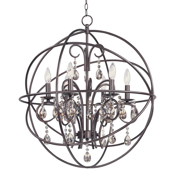 Most Current Eastbourne 6 Light Unique / Statement Chandeliers Intended For Alden 6 Light Globe Chandelier (View 25 of 25)
