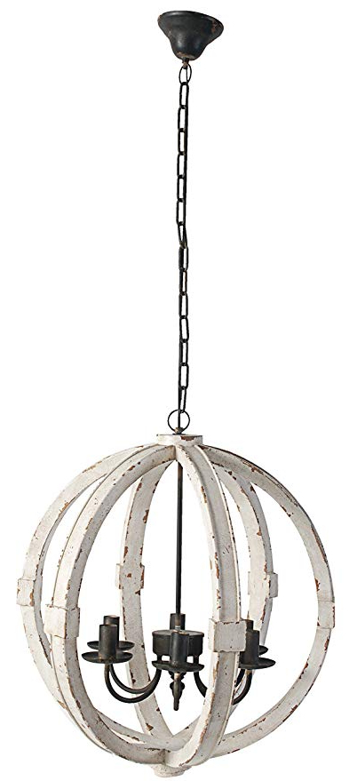 """Most Current Gaines 5 Light Shaded Chandeliers In A&b Home Calder Wooden Chandelier, 22.5""""l X  (View 11 of 25)"""