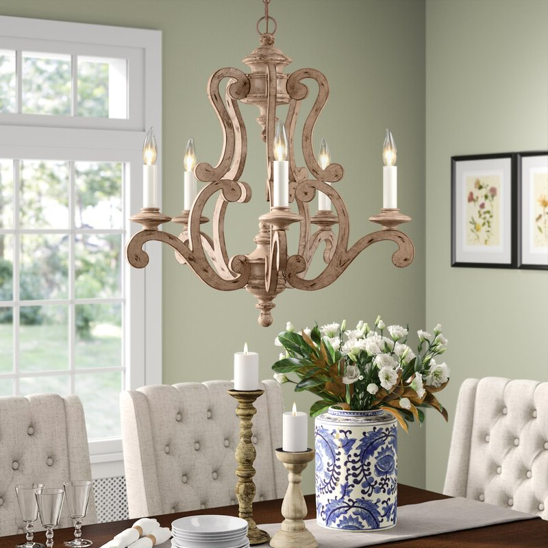Most Current Guglielmo 5 Light Candle Style Chandelier For Corneau 5 Light Chandeliers (View 14 of 25)