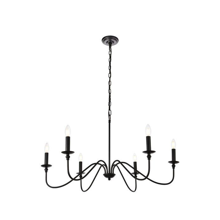Most Current Hamza 6 Light Candle Style Chandeliers For Hamza 6 Light Candle Style Chandelier (View 15 of 25)