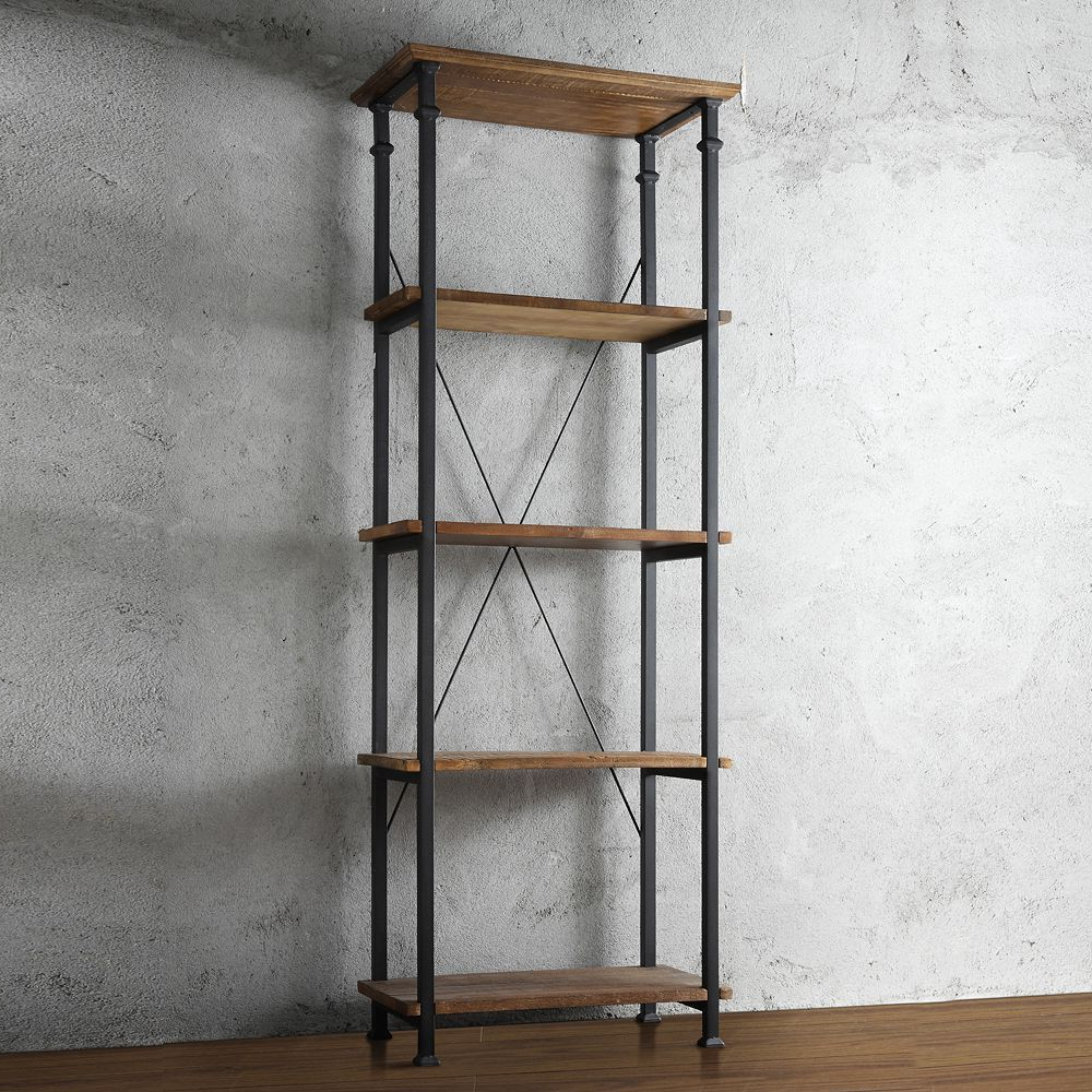 Most Current Homevance Derry Narrow 4 Shelf Bookcase (View 10 of 20)