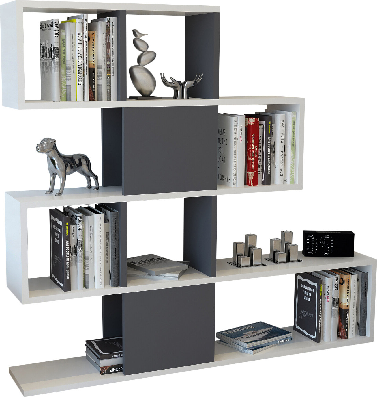 Most Current Ignacio Standard Bookcases Inside Dakota Geometric Bookcase (View 13 of 20)