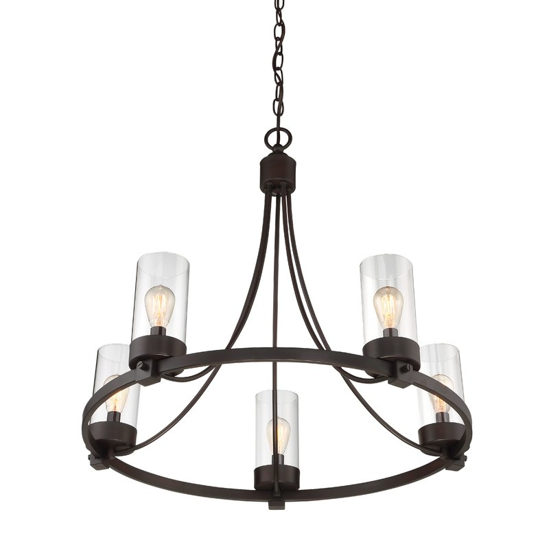 Most Current Janette 5 Light Wagon Wheel Chandeliers Regarding Janette 5 Light Wagon Wheel Chandelier (View 2 of 25)