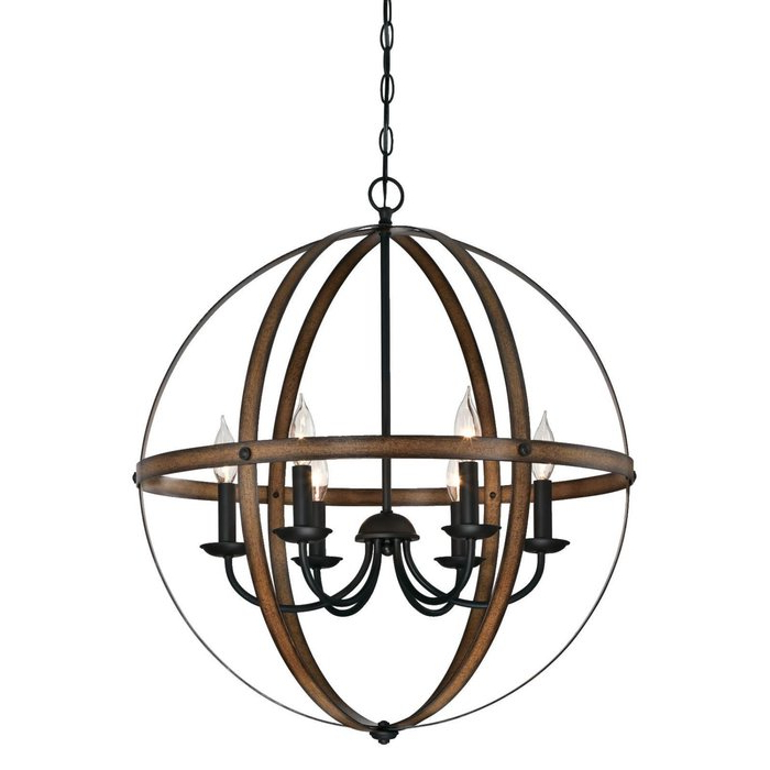 Most Current Joon 6 Light Globe Chandelier Within Donna 6 Light Globe Chandeliers (View 19 of 25)