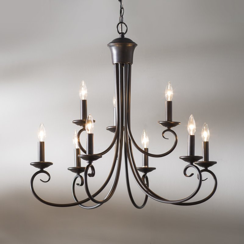 Most Current Kenedy 9 Light Candle Style Chandelier With Regard To Gaines 9 Light Candle Style Chandeliers (View 18 of 25)