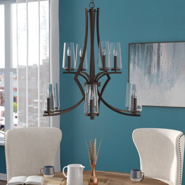Most Current Ladonna 5 Light Novelty Chandeliers Throughout Mollie 10 Light Shaded Chandelier (View 15 of 25)