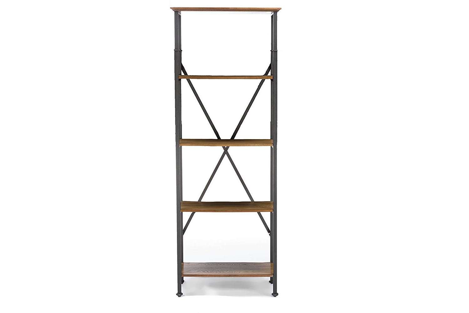 Most Current Lancashire Cube Bookcases Regarding Amazon: Baxton Studio Lancashire Wood And Metal Bookcase (View 8 of 20)