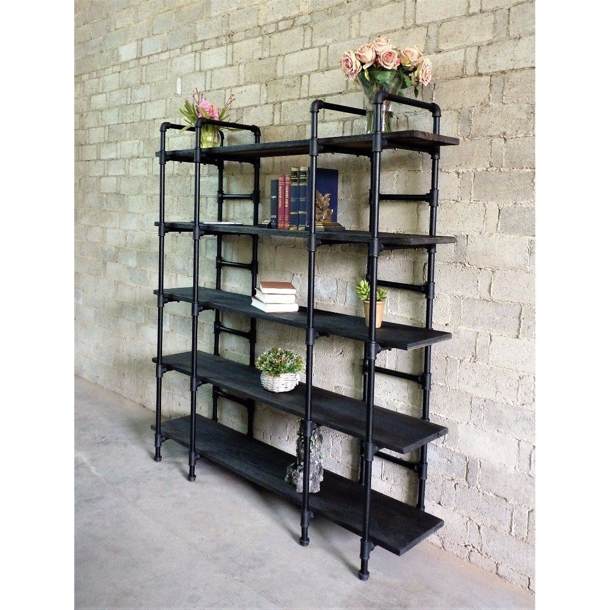 Most Current Manhattan Modern Industrial Etagere Bookcase With Champney Modern Etagere Bookcases (View 14 of 20)