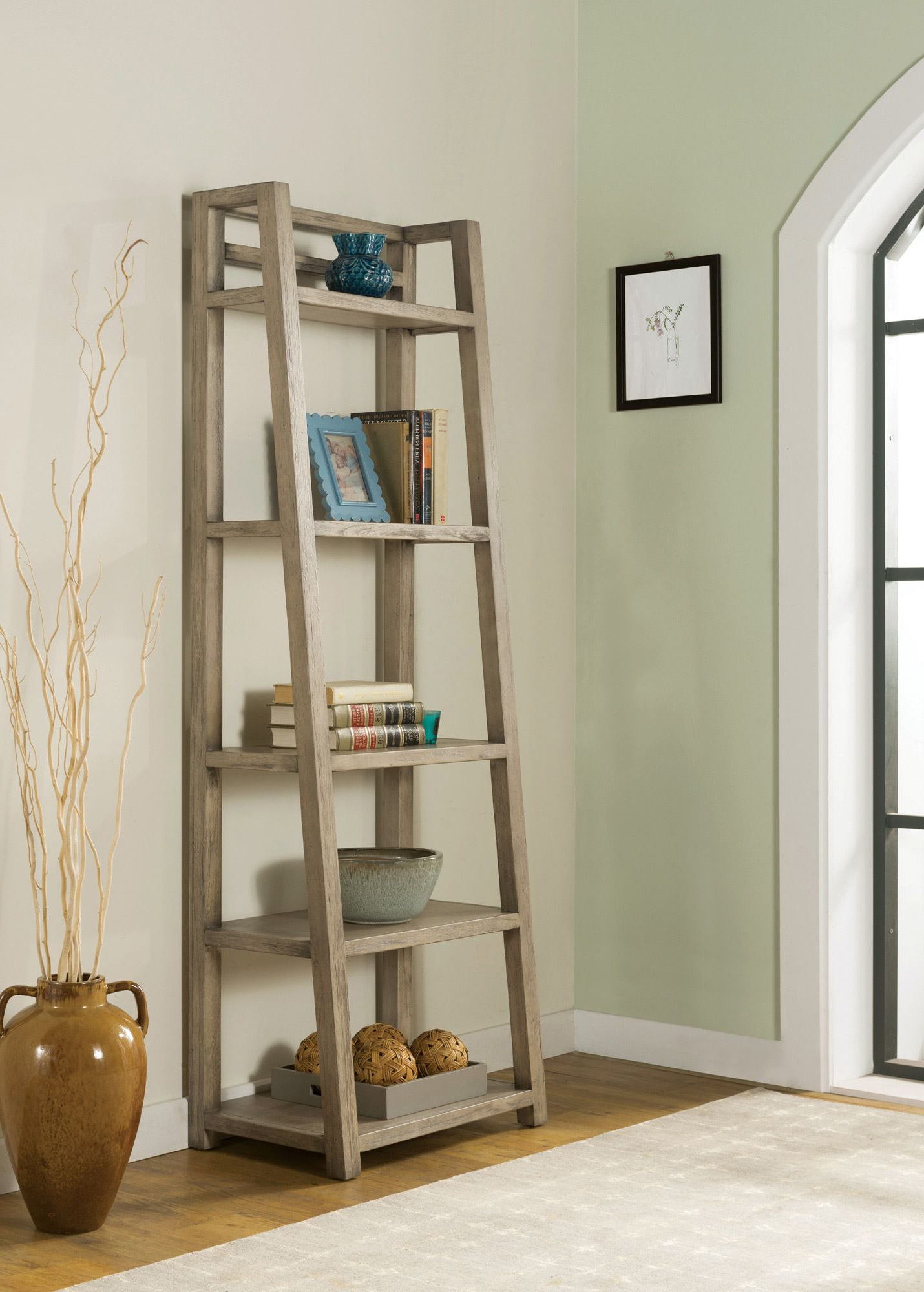 Most Current Massena Ladder Bookcases For Perspectives Leaning Bookcase (View 14 of 20)