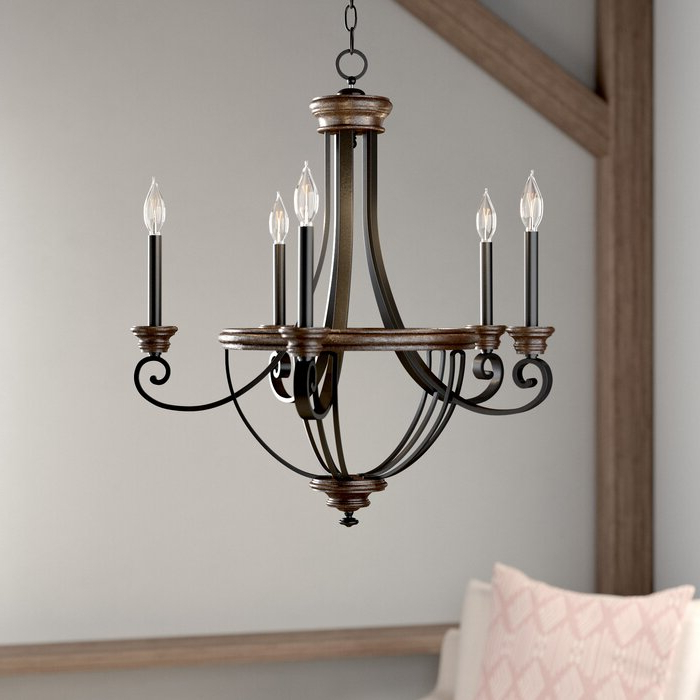 Most Current Nanteuil 5 Light Empire Chandelier For Phifer 6 Light Empire Chandeliers (View 12 of 25)