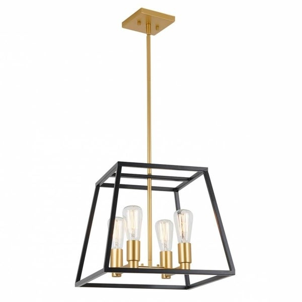 Most Current Shop Carter Square 4 Pendant Light Fixture, Kitchen Island Within Odie 4 Light Lantern Square Pendants (View 22 of 25)