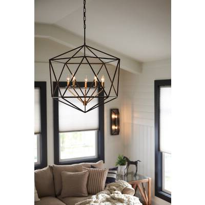 Most Current Tabit 5 Light Geometric Chandeliers With Regard To Tabit 5 Light Geometric Chandelier (View 9 of 25)