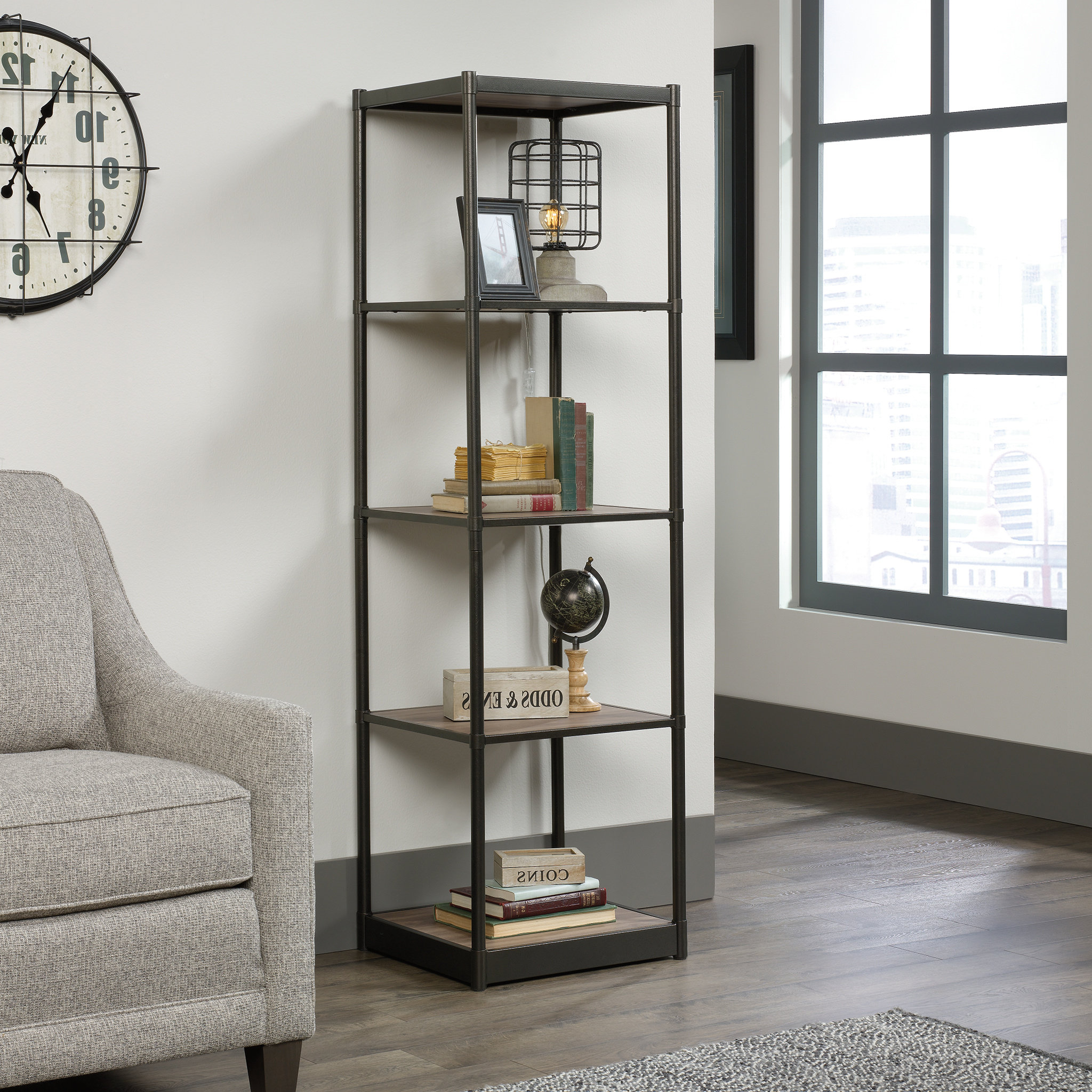 Most Current Theresa Tower Etagere Bookcase Intended For Hera Etagere Bookcases (View 12 of 20)
