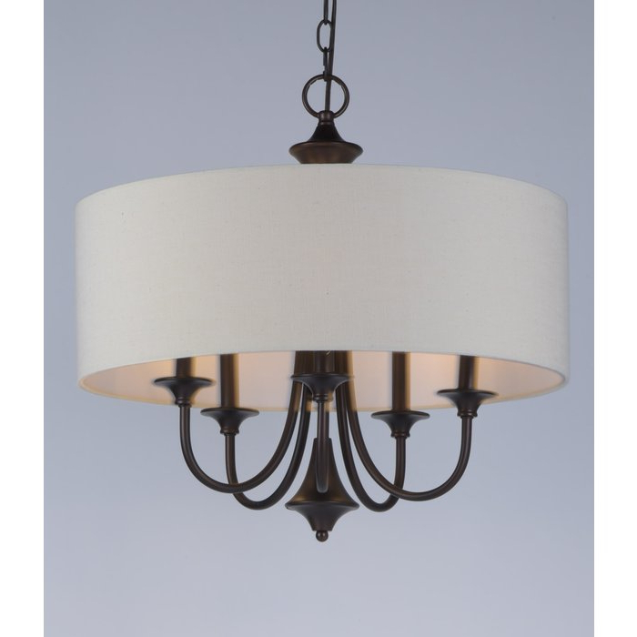 Most Current Wadlington 5 Light Drum Chandelier Inside Buster 5 Light Drum Chandeliers (View 20 of 25)
