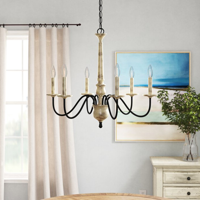 Most Current Watford 6 Light Candle Style Chandeliers Throughout Helen 6 Light Chandelier (View 5 of 25)