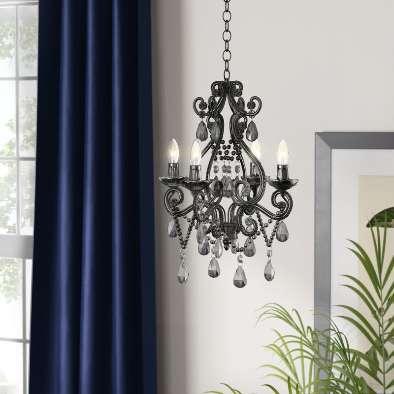 Most Popular Aldora 4 Light Candle Style Chandelier With Aldora 4 Light Candle Style Chandeliers (View 2 of 25)