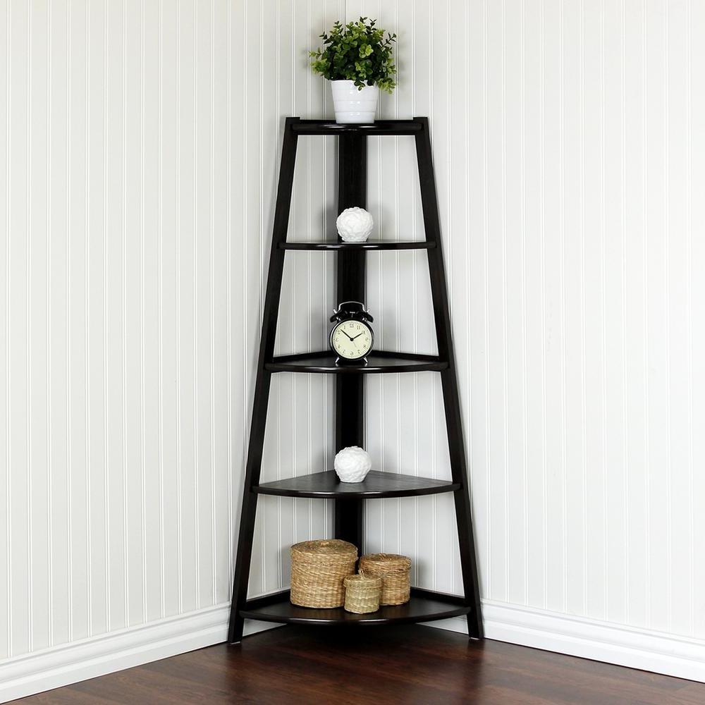 Most Popular Belcher Corner Bookcases Within Yaotai Cherry Corner Ladder Shelf (View 14 of 20)