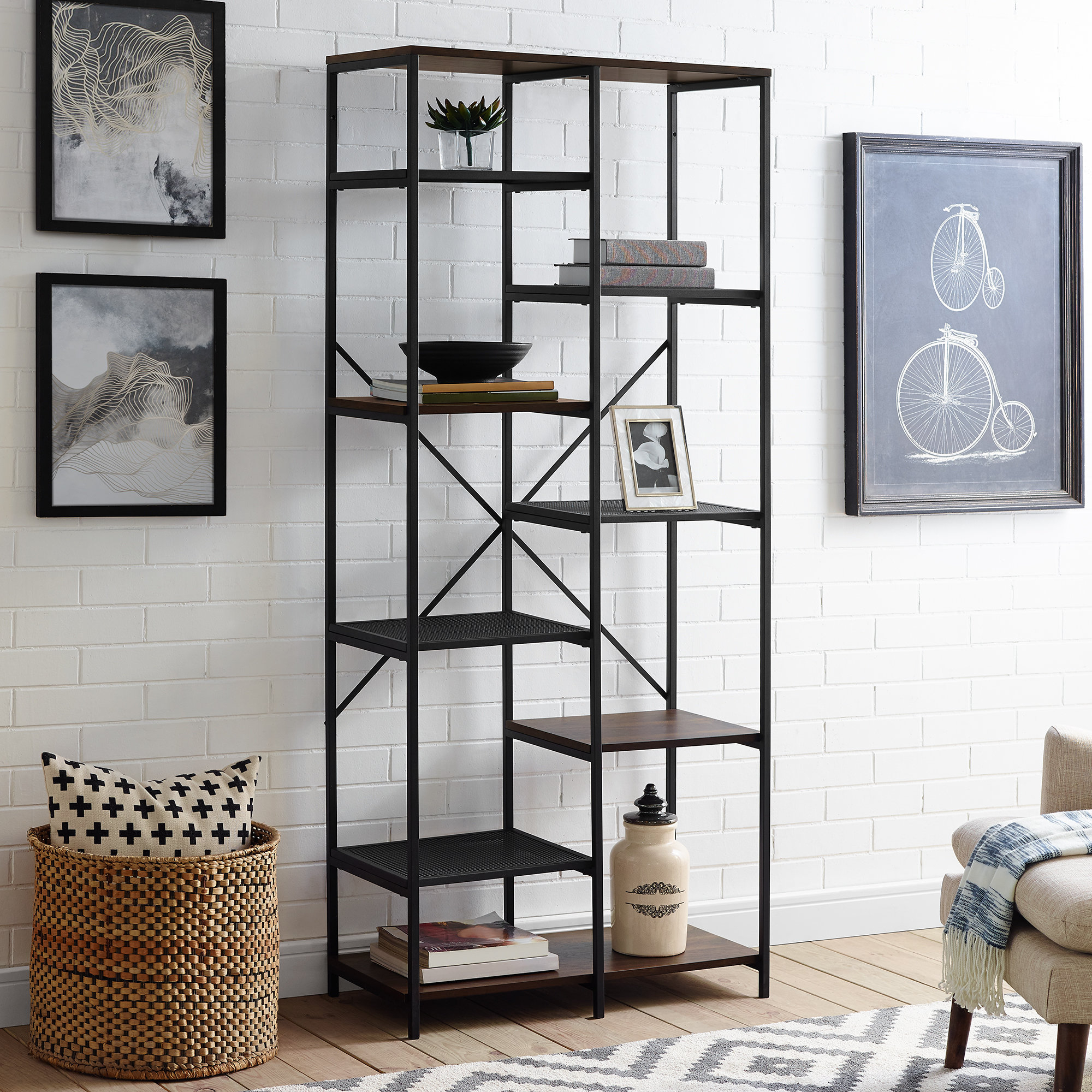 Most Popular Bowman Etagere Bookcase Inside Hera Etagere Bookcases (View 13 of 20)