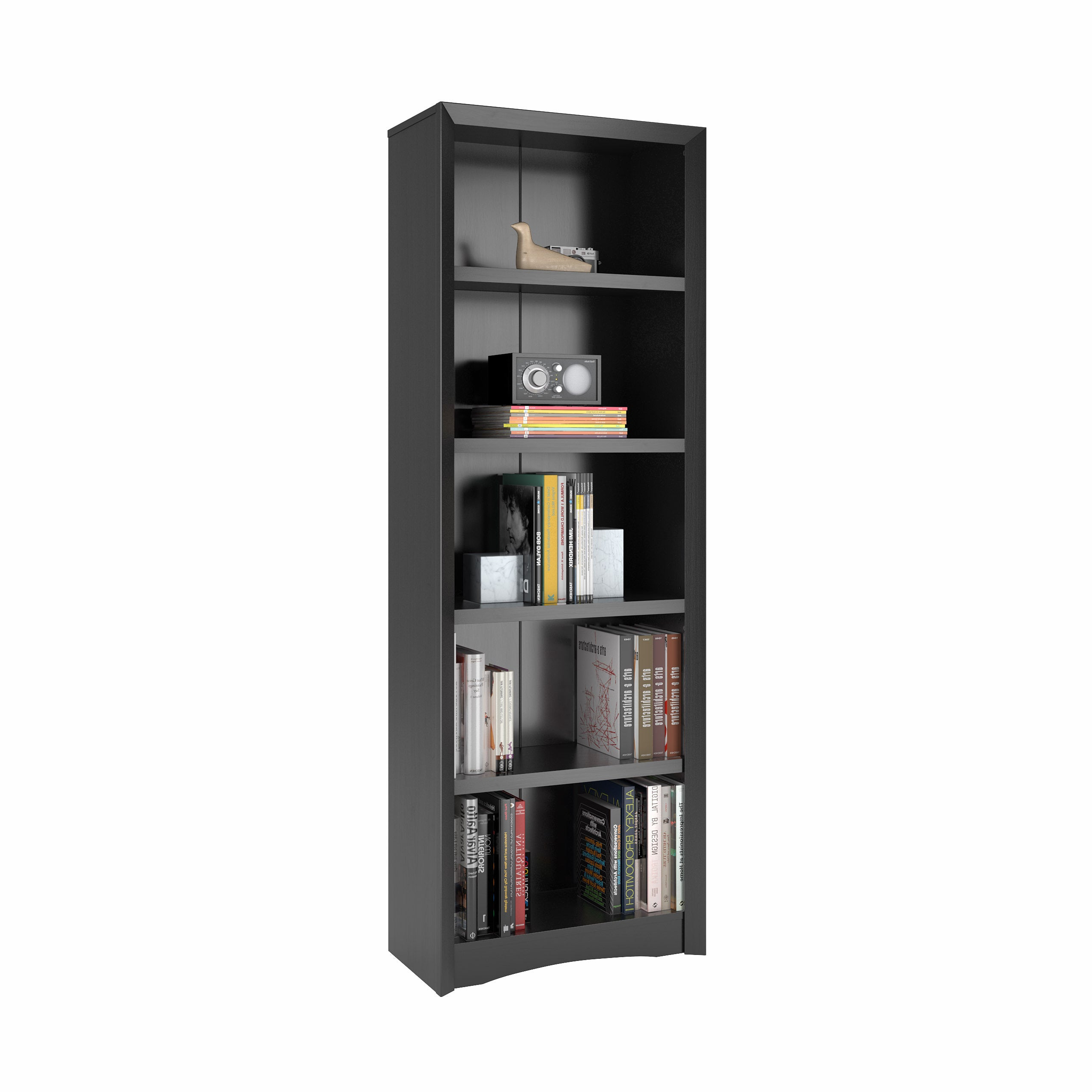 Most Popular Copper Grove Famagusta 71 Inch Tall Adjustable Bookcase With Faux Woodgrain Finish Throughout Hewitt Corner Bookcases (View 20 of 20)