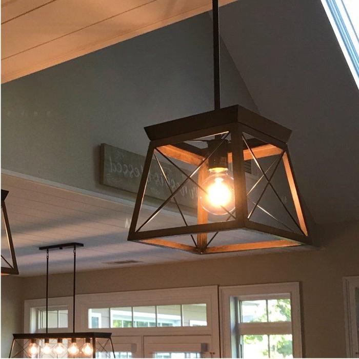 Most Popular Delon 1 Light Lantern Geometric Pendants With Regard To Delon 1 Light Lantern Pendant In  (View 21 of 25)