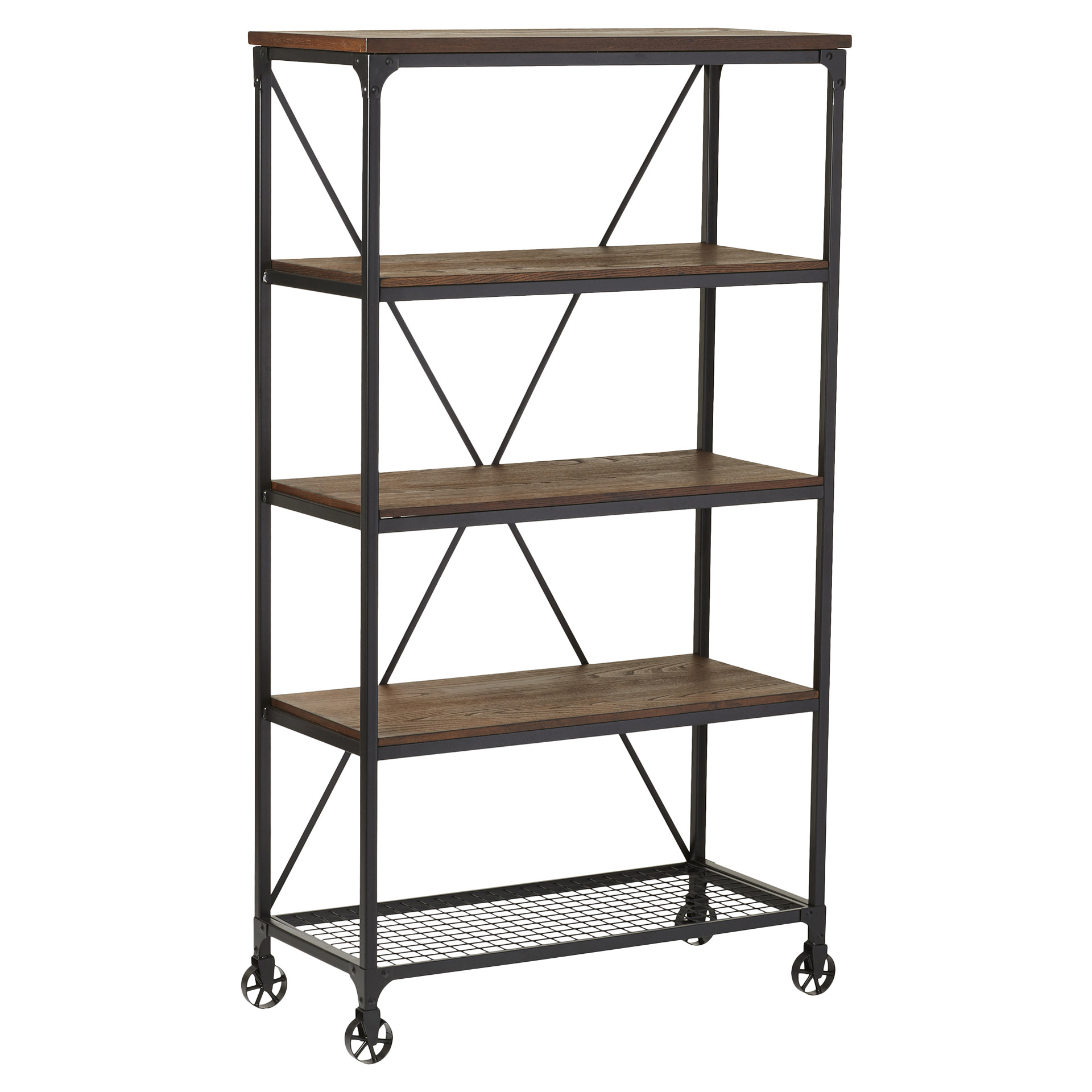 Most Popular Details About Williston Forge Cable Etagere Bookcase Inside Woodcrest Etagere Bookcases (View 8 of 20)