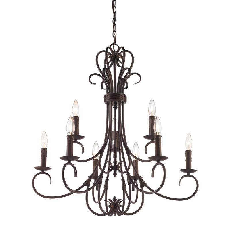 Most Popular Gaines 5 Light Shaded Chandeliers Intended For Gaines 9 Light Candle Style Chandelier (View 12 of 25)