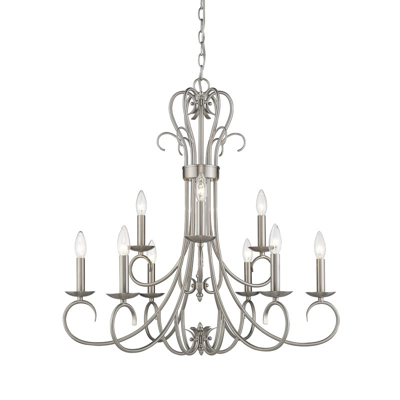 Most Popular Gaines 9 Light Candle Style Chandelier For Gaines 9 Light Candle Style Chandeliers (View 19 of 25)