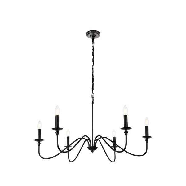 Most Popular Hamza 6 Light Candle Style Chandelier In  (View 16 of 25)