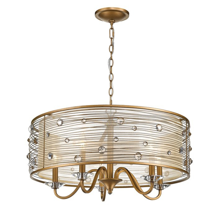 Most Popular Hermione 5 Light Drum Chandelier Regarding Abel 5 Light Drum Chandeliers (View 15 of 25)