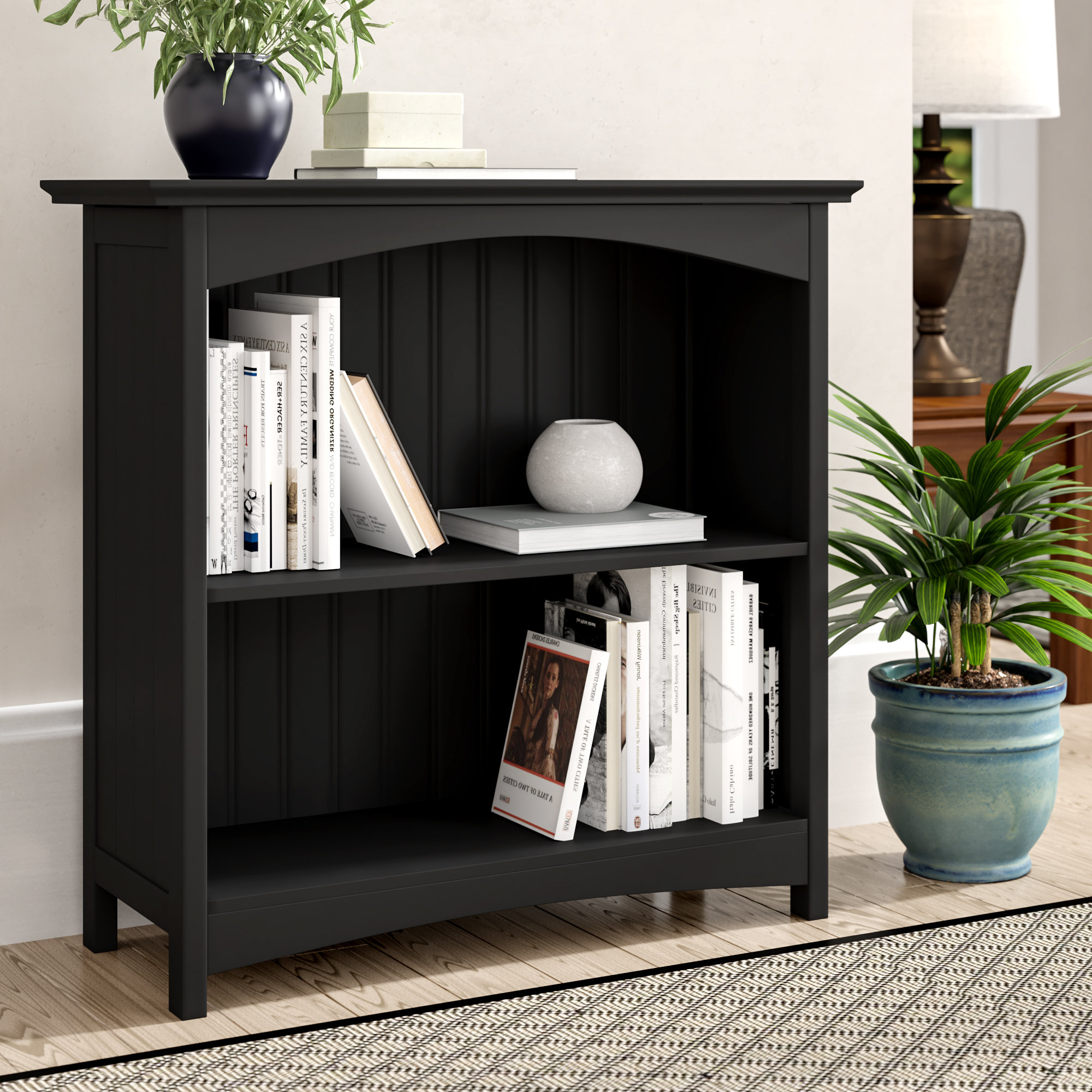 Most Popular Herrin 2 Tier Standard Bookcase In Krausgrill Standard Bookcases (View 14 of 20)