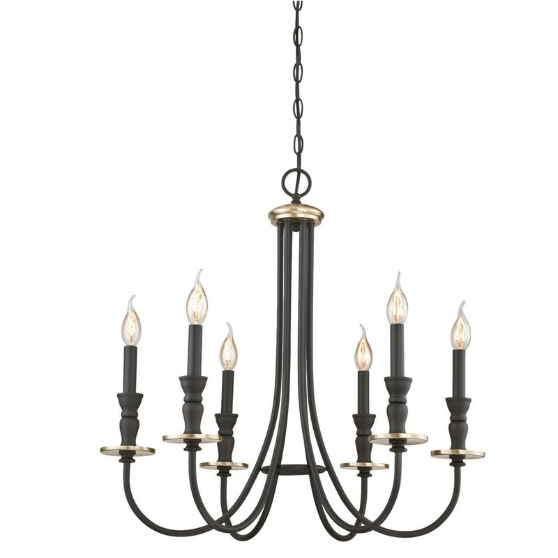 Most Popular Kenedy 9 Light Candle Style Chandeliers Regarding Mercado Indoor 6 Light Chandelier (View 16 of 25)