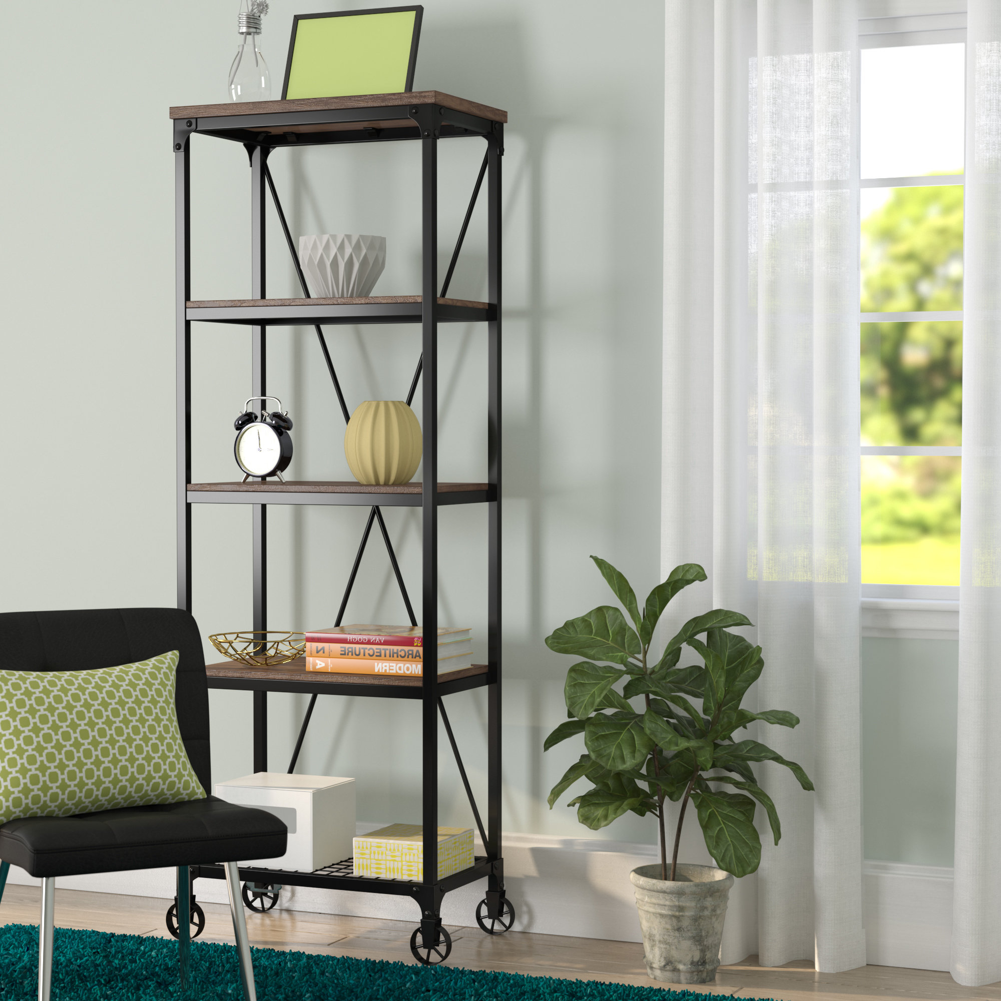 Most Popular Kilmersdon Etagere Bookcase Throughout Rocklin Etagere Bookcases (View 8 of 20)