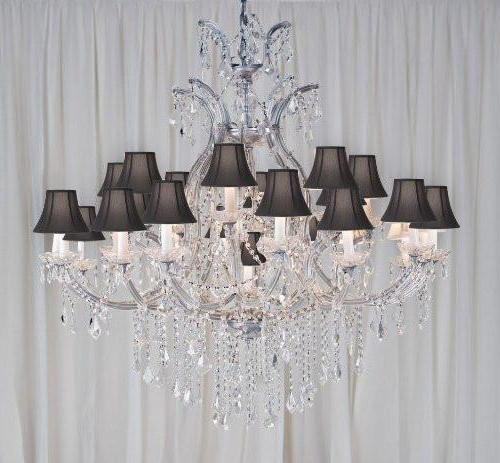 "Most Popular Maria Theresa Chandelier Crystal Chandeliers Lighting H52"" X Within Thresa 5 Light Shaded Chandeliers (View 22 of 25)"