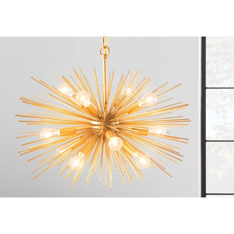 Most Popular Nelly 12 Light Sputnik Chandelier Intended For Asher 12 Light Sputnik Chandeliers (View 10 of 25)