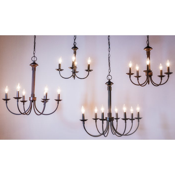 Most Popular Shaylee 5 Light Candle Style Chandelier Within Shaylee 6 Light Candle Style Chandeliers (View 9 of 25)
